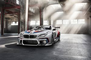 Desktop wallpapers BMW White Rays of light M6 GT3 Competition Edition automobile