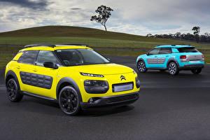 Images Citroen 2 Yellow Light Blue 2015 C4 Cactus automobile