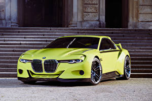 Image BMW Yellow green 2015 CSL Hommage auto