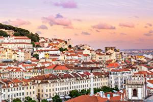 Tapety na pulpit Budynki Portugalia Miasto Lisbon Miasta