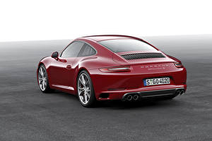 Fotos Porsche Bordeauxrot Hinten 2015 911 Carrera S Coupe Autos