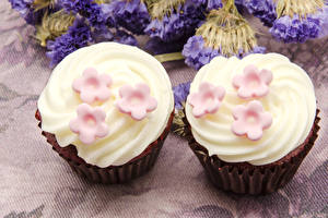 Wallpaper Confectionery Little cakes Two Food