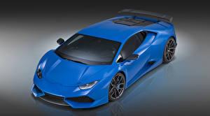 Pictures Lamborghini Blue Novitec Torado Huracan Cars