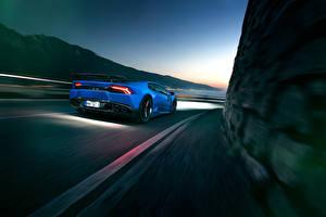 Hintergrundbilder Lamborghini Hinten Bewegung Novitec Torado Huracan Autos