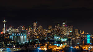 Hintergrundbilder Haus Seattle Washington Nacht