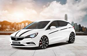 Bilder Opel Weiß Irmscher Astra