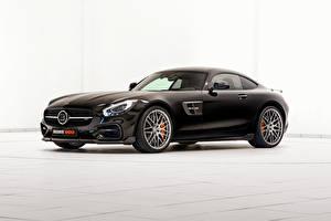 Hintergrundbilder Mercedes-Benz Brabus Schwarz 2015 Brabus AMG GT S C190 automobil