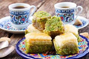 Bilder Süßigkeiten Backware Kaffee Turkish Delight Tasse Teller
