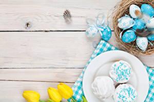 Hintergrundbilder Feiertage Ostern Backware Eier Nest