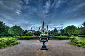 Fotos Himmel USA HDR ACKSON SQUARE New Orleans Natur