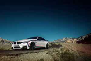 Desktop wallpapers Sky BMW M4 Coupe Cars