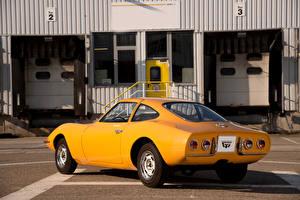 Hintergrundbilder Opel Retro Gelb Hinten 1965 Experimental GT
