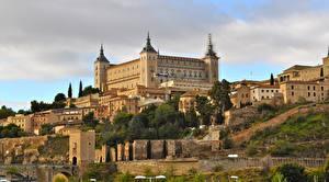 Images Spain Castles Toledo Alcazar Cities
