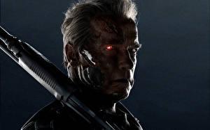 Bureaubladachtergronden Terminator Genisys Arnold Schwarzenegger T-800 Films Beroemdheden