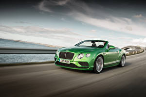 Pictures Bentley Green Convertible Motion 2015 Continental GT automobile