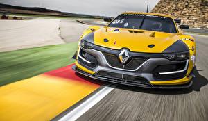 Papel de Parede Desktop Renault Na frente Amarelo Movimento 2014 Sport RS 01 automóveis