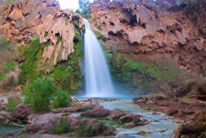 Hintergrundbilder Vereinigte Staaten Wasserfall Grand Canyon Park HDR Havasu Falls, Arizona Natur