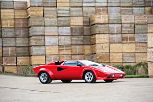 Bilder Lamborghini Retro Tuning Rot  Autos