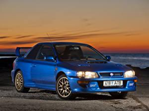 Hintergrundbilder Subaru Blau Metallisch 1998 Impreza 22B STi LHD (GC8E2SD) automobil