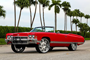 Photo Chevrolet Tuning Red Cabriolet Impala Cars