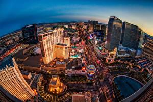 Fotos Wolkenkratzer USA Nevada Las Vegas Von oben HDRI Städte