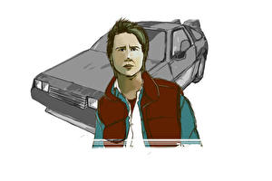 Pictures Back to the Future DeLorean Michael J. Fox (Marty McFly)