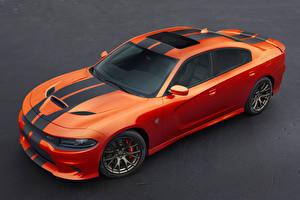 Photo Dodge Tuning Orange 2016 Charger SRT Hellcat -Go Mango-(LD) automobile