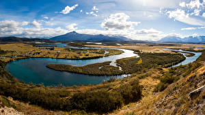 Image Chile Landscape photography River Sky Clouds Serrano River Patagonia Nature