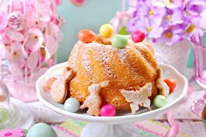 Papéis de parede Feriados Páscoa Pastelaria Kulitsch Bolacha Confecção Bolo inglês Ovo Alimentos