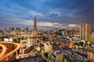 Sfondi desktop Bangkok Thailandia La casa Cielo Città
