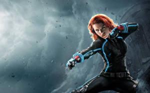 Picture Avengers: Age of Ultron Scarlett Johansson Heroes comics Warriors Redhead girl Celebrities
