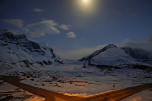 Bilder Kanada Park Gebirge Schnee Jasper park