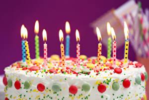 Hintergrundbilder Torte Kerzen Großansicht Lebensmittel