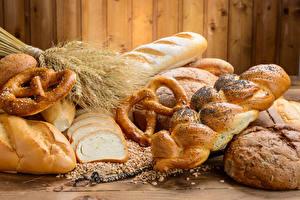 Fotos Backware Brot Brötchen Weizen Ähren das Essen