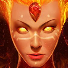 Pictures DOTA 2 Lina Face Fantasy Girls