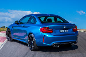 Photo BMW Back view Blue 2016 BMW M2 Coupe AU-spec (F87) Cars