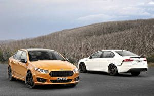 Wallpaper Ford 2 Orange White 2014 Falcon AU-spec (FG) Cars