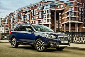Bilder Subaru Blau 2015 Outback