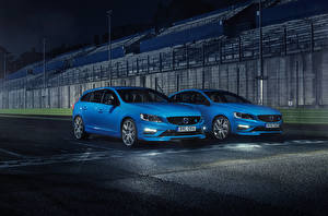Images Volvo Two Light Blue automobile