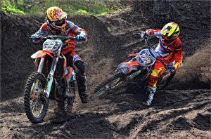 Images Motocross Mud Two Helmet Sport Motorcycles