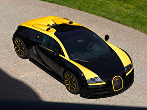 Bilder BUGATTI Luxus Schwarz Roadster 2014 Veyron Grand Sport Roadster Vitesse One of One