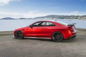 Bilder Audi Rot Seitlich ABT RS 5 Coupe Autos
