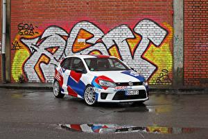 Bureaubladachtergronden Volkswagen Tuning 2016 Polo R WRC Street (Typ 6R) Auto