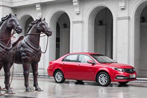 Fonds d'écran Geely Rouge Automobile 2015 GC7 Vision Voitures