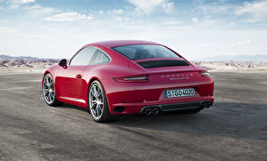 Fotos Porsche Hinten Rot 2015 911 Carrera S Coupe Autos