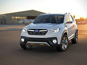 Bilder Subaru Weiß 2015 VIZIV Concept auto