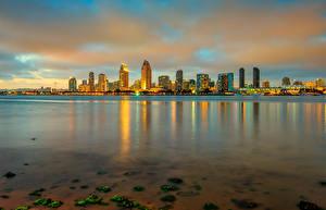 Bilder USA Gebäude Abend Ozean San Diego Städte
