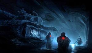 Hintergrundbilder Panzer Soldaten Drei 3 Fantasy