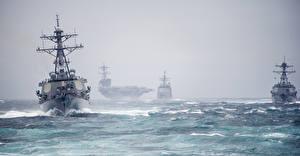 Pictures Aircraft carrier Ocean Ship USS George H. W. Bush (CVN-77)