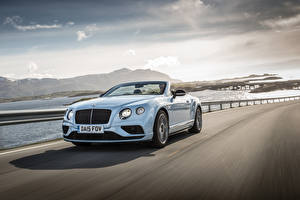 Wallpapers Bentley Convertible White Riding 2015 Continental GT V8 S Convertible auto